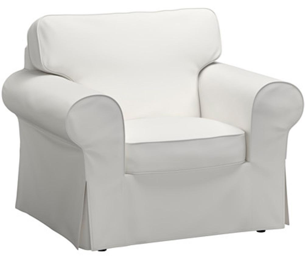 The Chair Cover Is Sofa Slipcover Replacement. It Fits Pottery Barn PB Basic Chair or Armchair (cotton white)