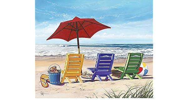 Scott Westmoreland Beachy Keen Coastal Landscape Umbrella Print Poster 20x24