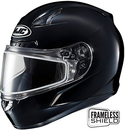 HJC CL-17 Snow Helmet Gloss Black Double Lens (Hjc Double Lens Shield)