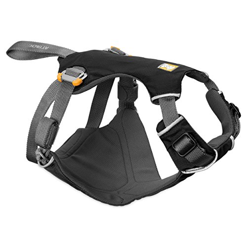 Ruffwear - Load Up Vehicle Restraint Harness for Dogs, Obsidian Black, Large/X-Large Auto Car Sports Iron