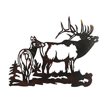 Amazon.com: Elk Metal Wall Art: Home & Kitchen