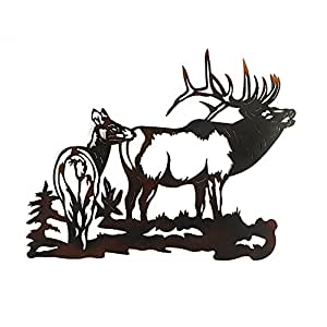 elk metal wall art home kitchen. Black Bedroom Furniture Sets. Home Design Ideas