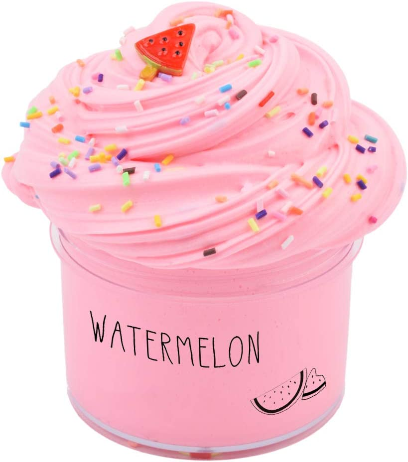 Sunool Butter Slime Pink Watermelon,Butter Slime Putty Stress Relief and Scented Sludge Toy 7oz