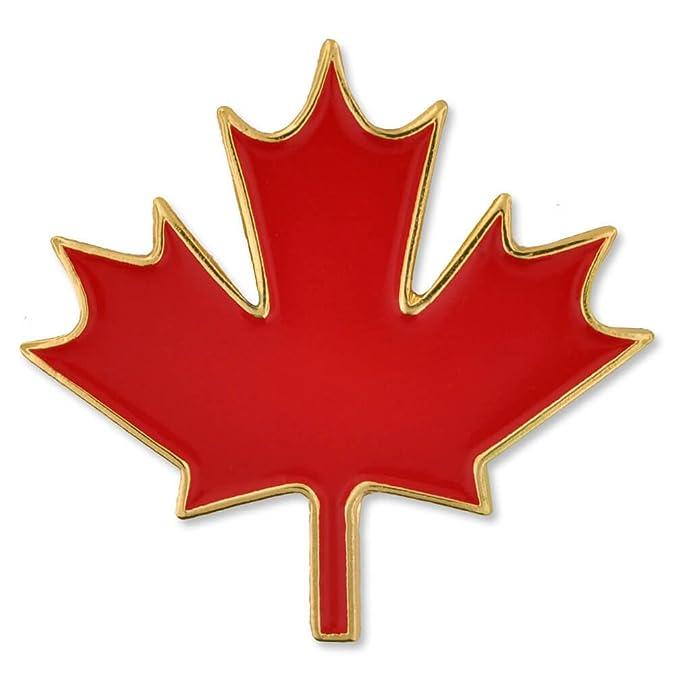 Amazon Pinmart Canadian Red Maple Leaf Canada Enamel Lapel Pin