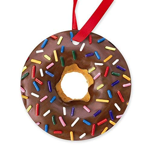 Enidgunter Chocolate Donut Ornament - Round Christmas...