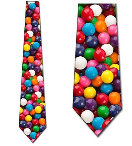 Necktie Fun - Gumballs Necktie Fun Candy Ties Mens Gum Neck Tie by Three Rooker