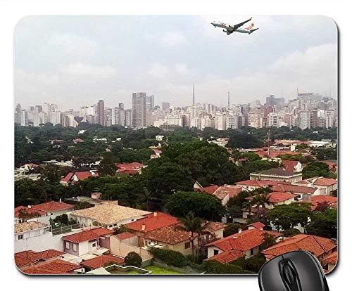 - Mouse Pads - Sao Paulo Brazil Vista Plane Landing Metropolis