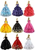 #7: ZITA ELEMENT Lot 6 PCS Fashion Handmade Clothes Dress for Barbie Doll XMAS GIFT