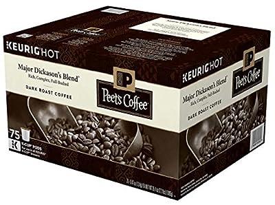 Peet's Coffee Major Dickason's Blend Coffee, Dark, 75 K-Cup Pods
