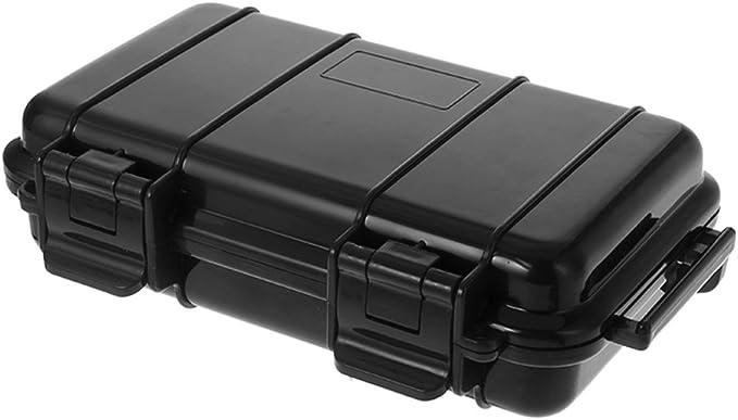Boîte en plastique étanche noir cantine Extérieur Camping Survival EDC