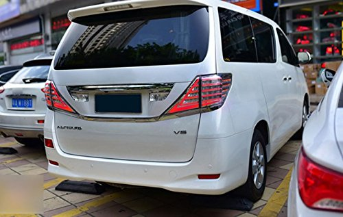 GOWE car styling for Toyota Alphard Taillight Vellfire LED taillight 2008-2014 With Flashing signal lamp Color white brown 0