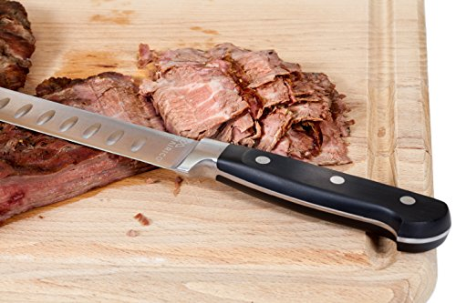 MAIRICO Ultra Sharp Premium 11-inch Stainless Steel Carving Knife - Ergonomic Design - Best for Slicing Roasts, Meats, Fruits and Vegetables