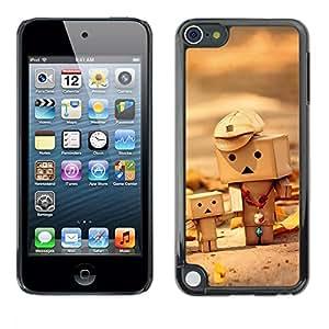 TECHCASE**Cubierta de la caja de protección la piel dura para el ** Apple iPod Touch 5 ** Toys 3D Figurine Wood Art Child Cute Autumn
