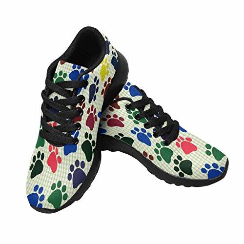 Interesprint Mujeres Trail Running Zapatillas Jogging Ligero Deportes Walking Athletic Sneakers Perros Footprints Multi 1