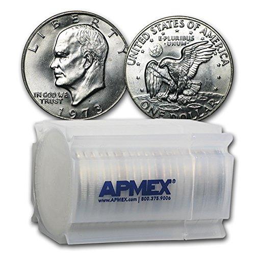 Roll Eisenhower Dollar (1973 D Clad Eisenhower Dollar 20-Coin Roll BU $1 Brilliant Uncirculated)