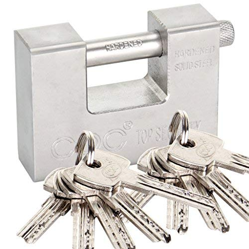 Shoze Heavy Duty Padlocks with 10 Keys Padlocked Industrial Padlock for Container Garage Warehouse
