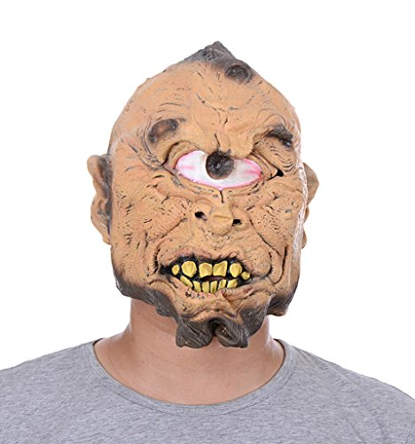 Uleade Halloween Mask One Eyed Scary Costume Ghost Cosplay Party Rotten Gums (Purge Costumes Ideas)