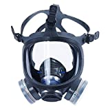 Holulo ST-M70-3 Organic Full Face Respirator Safety Mask (ST-M70-3 Mask+1 Pair 3# filter Cartridges)