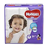 Health & Personal Care : HUGGIES LITTLE MOVERS Diapers, Size 4 (22-37 lb.), 24 Ct, JUMBO PACK (Packaging May Vary), Baby Diapers for Active Babies
