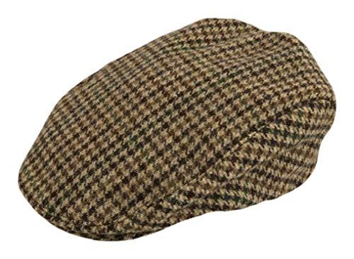 Dents Mens Abraham Moon Yorkshire Tweed Flat Cap - Brown - Extra -