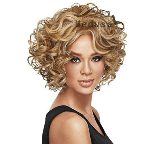 Longlove Womens Short Curls Straight Female Hair Cosplay Wigs Daily Hair (MDS expo 2) (Cosplay Store Near Me)