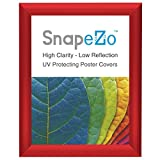 """Red Snap Frame 8.5 x 11 Inches, 1"""" Narrow Aluminum Profile, Front Loading Quick Poster Change, Wall Mounted, Certificate Frame"""