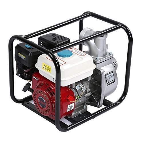 Benzin Wasserpumpe 3 Zoll Benzin Wasser Transferpumpe 6 5hp 7m Gartenbewässerung Schwimmbadreinigungspumpe 3 6l Kraftstofftank Gewerbe Industrie Wissenschaft