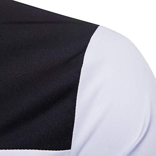 Manches Longues ❤ Chemise Patchwork Morchan Chemisier Blanc À Haut Automne Chemises Hommes nYqqT0gw