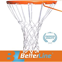 BETTERLINE Better Line Premium Quality Professional Basketball Net All-Weather Heavy Duty Thick Net, 12 Loops (White)