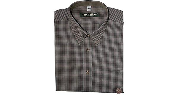 Tom Collins - Camisa de caza para hombre con diseño de jabalí en el bolsillo en el pecho con cuello de botón, talla 41/42 (L), verde oliva, 41/42: Amazon.es: Deportes y aire libre