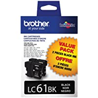 Brother LC61BK Paquete de 2 cartuchos de tinta negra