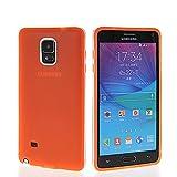 HUAZHUN Flexible Silicone Soft TPU Gel Skin Shell Back Case Cover For Samsung Galaxy Note 4 N9100 Orange