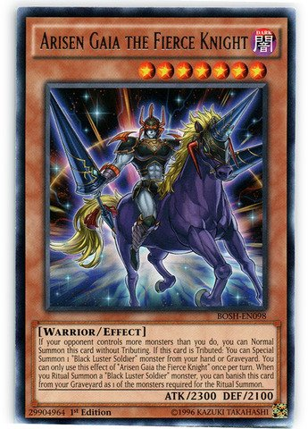 Yu-Gi-Oh! - Arisen Gaia the Fierce Knight (BOSH-EN098) - Breakers of Shadow - 1st Edition - Rare