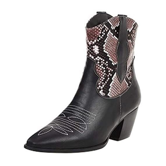 Western Boots, Leder Optik, spitz