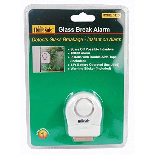 Technology Glass Break Detector (HomeSafe Glass Break Window / Door Shock Detection Sensor 100-decibel Alarm)