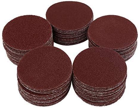 100pcs 2-inch hook and loop sanding discs 60 80 100 120 150 Assorted grain sandpaper