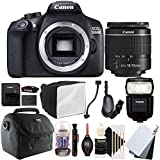 Canon EOS 1300D 18MP Digital SLR Camera with 18-55mm EF-IS STM Lens , 430EX lll Non RT Flash and Accessory Kit
