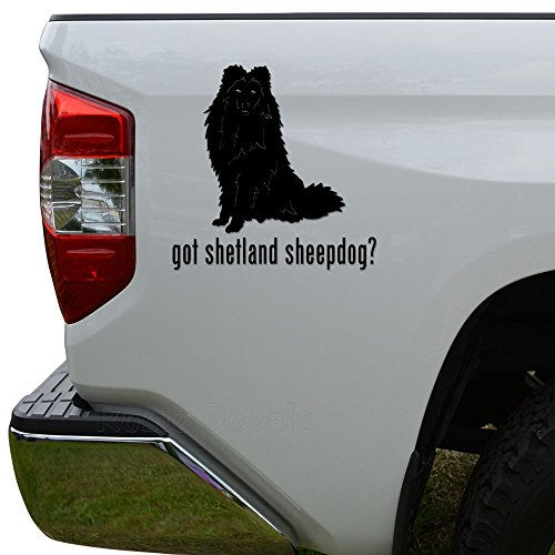 (Got Shetland Sheepdog Sheltie Dog Pet Die Cut Vinyl Decal Sticker For Car Truck Motorcycle Window Bumper Wall Decor Size- [6 inch/15 cm] Tall Color- Matte Black)