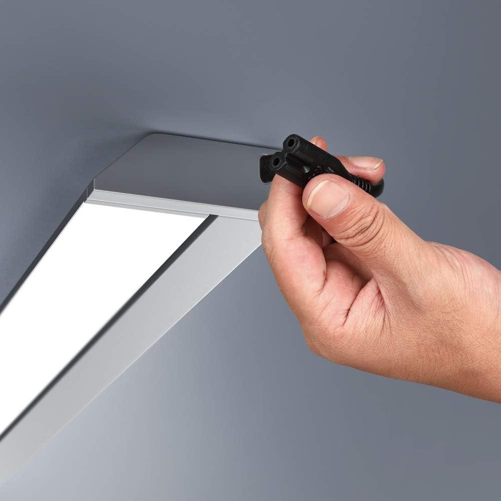 R/églette lumineuse orientable LED 10W blanc neutre 579x78x35mm mod/èle LEldh/ús Barre lumineuse Plafonnier cuisine Eclairage meuble
