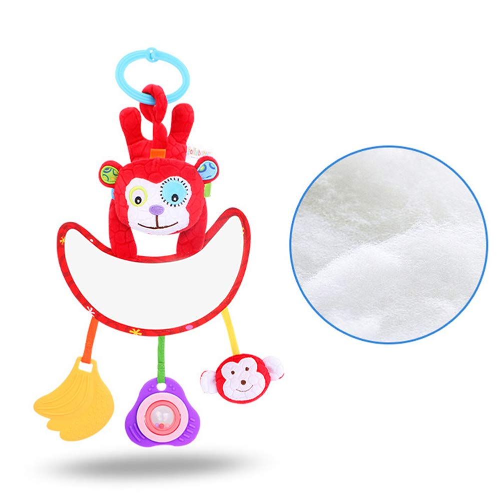 SEADEAR Baby Comforting Plush Toy Baby Play Activity Mirror 0-2 Years Old(#1)