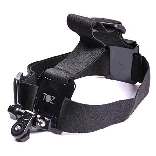 TOZ Elastic Mount Extendable Head Belt Flexible Strap Band with Mount Adapter for Sony Action Cam Hdr-as100v As30v AEE As15 As30 Sj1000 Sports Action Cam Camera Accessory
