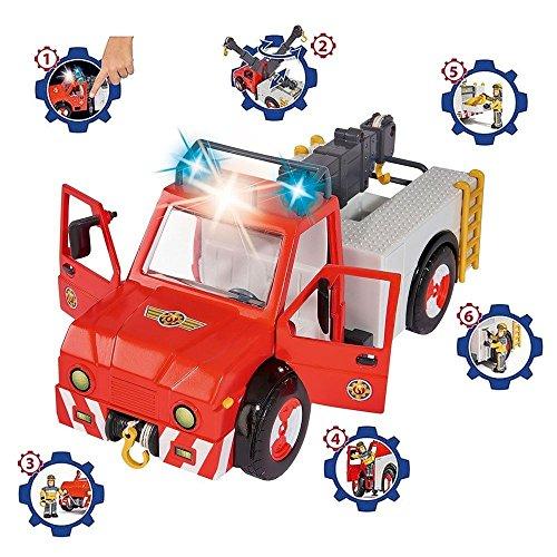 sam le pompier fireman sam v hicule animal rescue phoenix avec lumi re et cheval et sam la. Black Bedroom Furniture Sets. Home Design Ideas