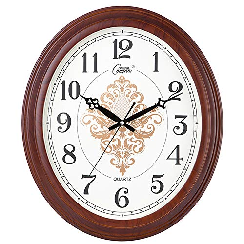 - Modenny Creative Silent Living Room Wall Clock European Resin Round Hanging Clock Personality Digital Home Ultra Silent Non-Ticking Wall Mounted Watch Theme Background Bedroom Study Office Decoration