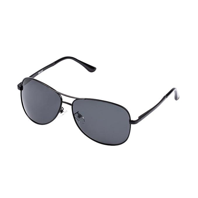 IMAGE Gafas de Sol Hombre Polarizadas UV400 para la conducción deportiva Golf Viaje, Marco de