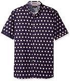 Ted Baker Men's Sojammy-Ss Large Flower Print Shirt-Modern Slim Fit, Navy, 6