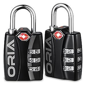 Amazon.com: ORIA Luggage Lock, Travel Lock, TSA Approved ...