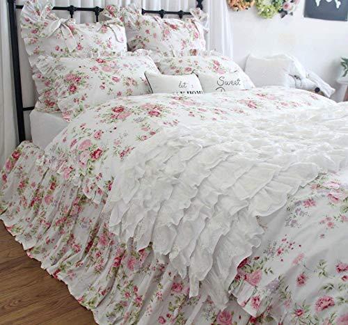Cute Bedding Grils Rose Floral Duvet Cover Bed Set