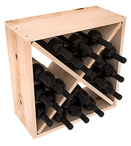 Wine Racks America Rustic Pine 24 Bottle Value Cube. 13 Stains to Choose From! For Sale