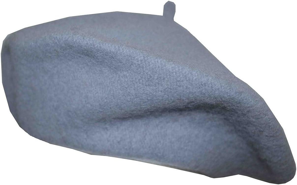 MG Classic 100/% Wool Beret Cap Hat 11 Gray