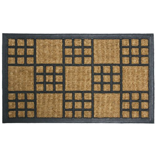 18 x 30-Inch Rubber-Cal Summer in Cardiff Outdoor Coco Decorative Rubber Entry Mat